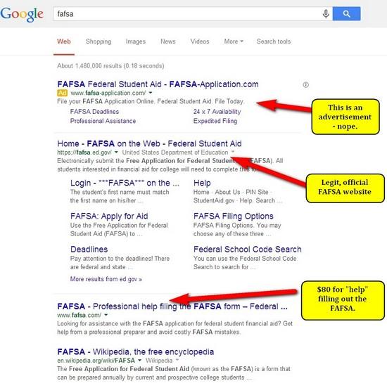 fafsa real website