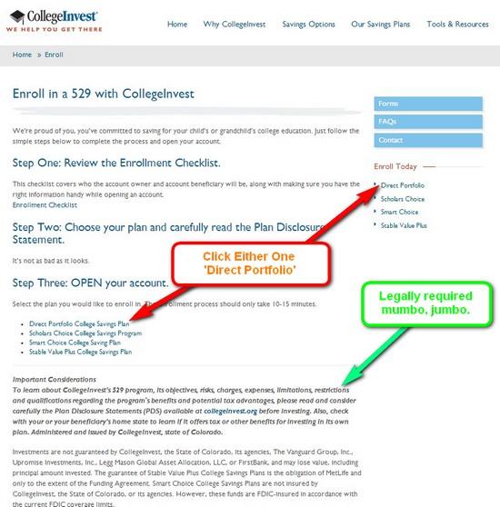 enroll colorado 529 plan online