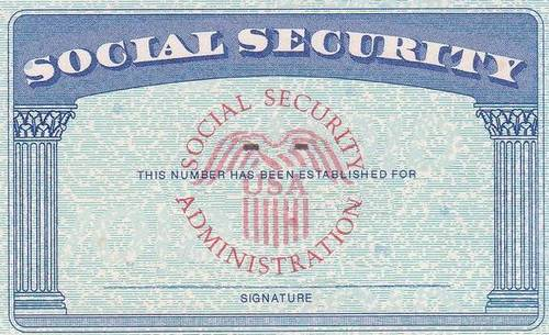 Social security if still working reduced taxable for Make a social security card template