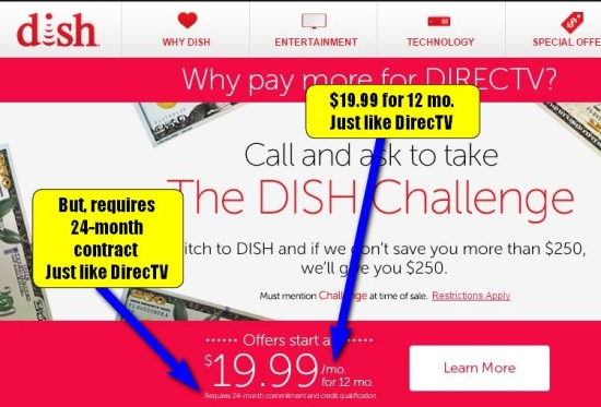 Dish DirecTV Intro Offer Fine Print