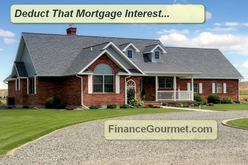 how to deduct mortgage interest house picture