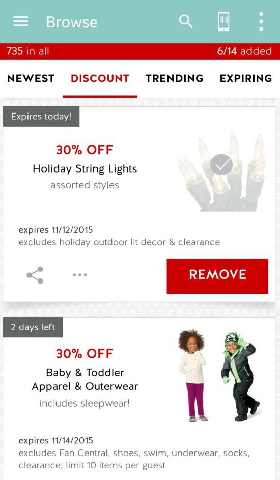 target cartwheel app discounts