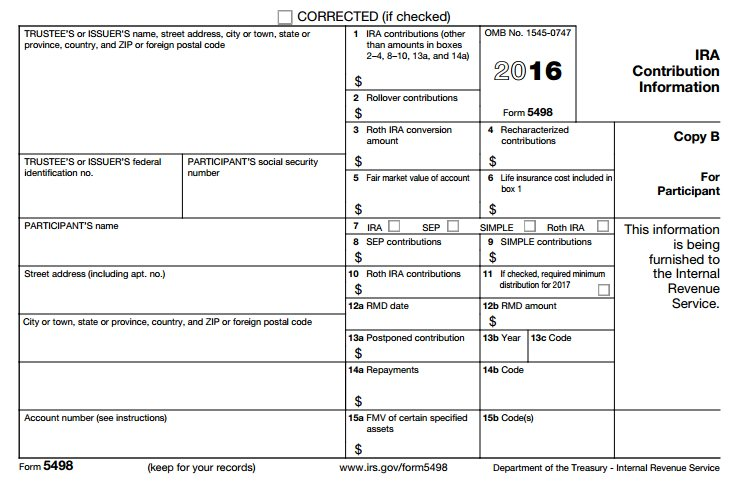 ira contribution tax form 5498