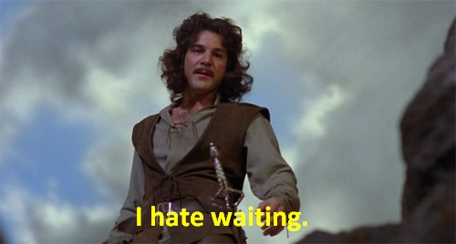 i hate waiting - inigo montoya