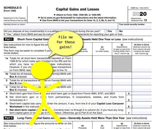 capital loss tax deduction schedule d